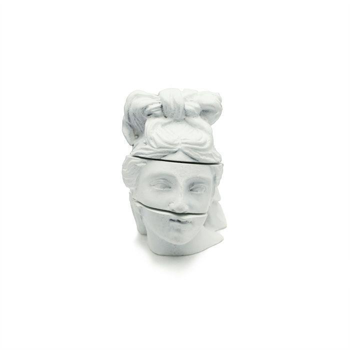 ネックレス / ストーンスタチュー ネックレス WHITE -HEAD- メンズ レディース シルバー 白 人気 ブランド おすすめ 石膏像 本物 プレゼント 誕生日 ギフト Vaporwave ヴェイパーウェイヴ カセットテープカルチャー 重ね付け アナログ