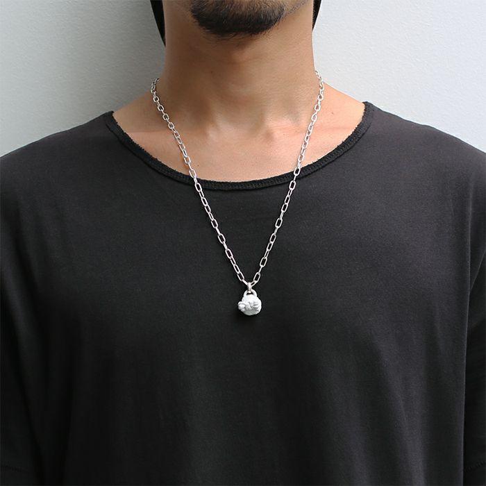 【ジャムホームメイド(JAMHOMEMADE)】ストーンスタチュー ネックレス ホワイト -HEAD-