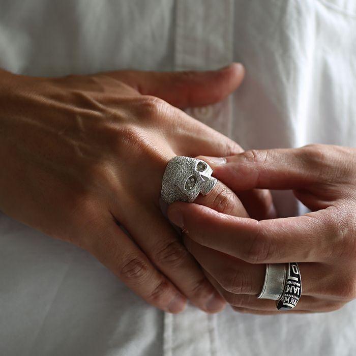 スカルリング パヴェ -SILVER- / 指輪