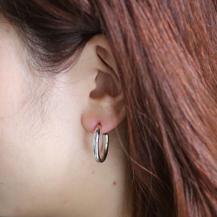 ピアス / O型 ピアス -NEW TYPE- L / 片耳 メンズ レディース ペア シルバー 925 血液型 アクセサリー 人気 ブランド おすすめ 誕生日 ギフト プレゼント ダイアモンド 大ぶり