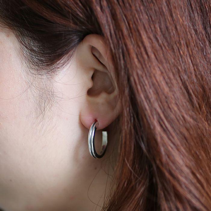 ピアス / B型 ピアス -NEW TYPE- L / 片耳 メンズ レディース ペア シルバー 925 血液型 アクセサリー 人気 ブランド おすすめ 誕生日 ギフト プレゼント ダイアモンド 大ぶり