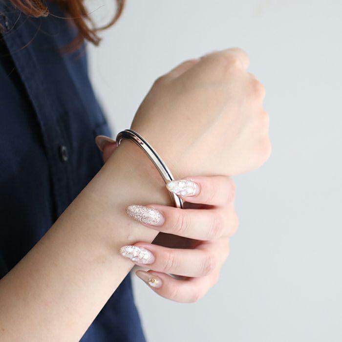 ブレスレット / AB型 バングル M -NEW TYPE- メンズ レディース ペア シルバー 925 人気 おすすめ ブランド プレゼント ギフト シンプル ブレスレット ダイヤモンド ネイティブ 高級