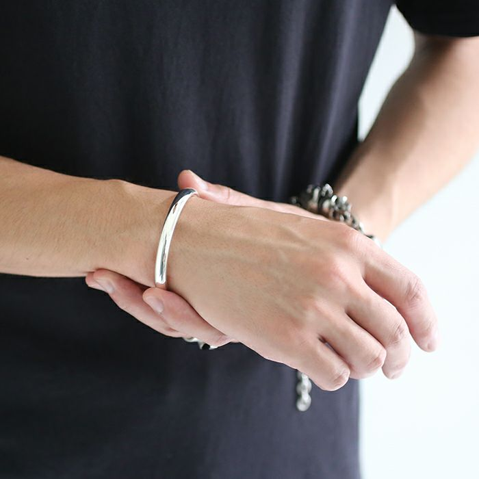 【JAM HOME MADE(ジャムホームメイド)】O型 バングル M -NEW TYPE- メンズ レディース ペア シルバー 925 人気 おすすめ ブランド プレゼント ギフト シンプル ブレスレット ダイヤモンド ネイティブ 高級