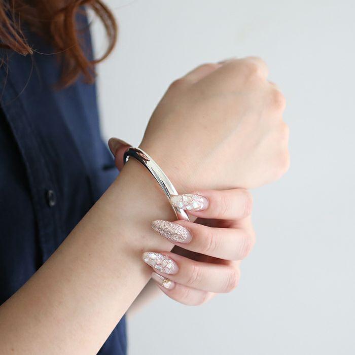 ブレスレット / O型 バングル M -NEW TYPE- メンズ レディース ペア シルバー 925 人気 おすすめ ブランド プレゼント ギフト シンプル ブレスレット ダイヤモンド ネイティブ 高級
