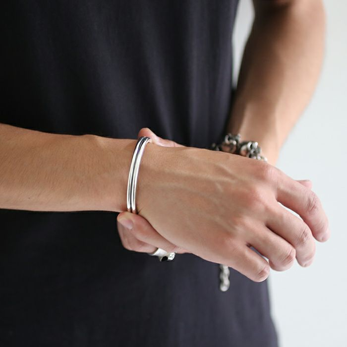【JAM HOME MADE(ジャムホームメイド)】B型 バングル M -NEW TYPE- メンズ レディース ペア シルバー 925 人気 おすすめ ブランド プレゼント ギフト シンプル ブレスレット ダイヤモンド ネイティブ 高級