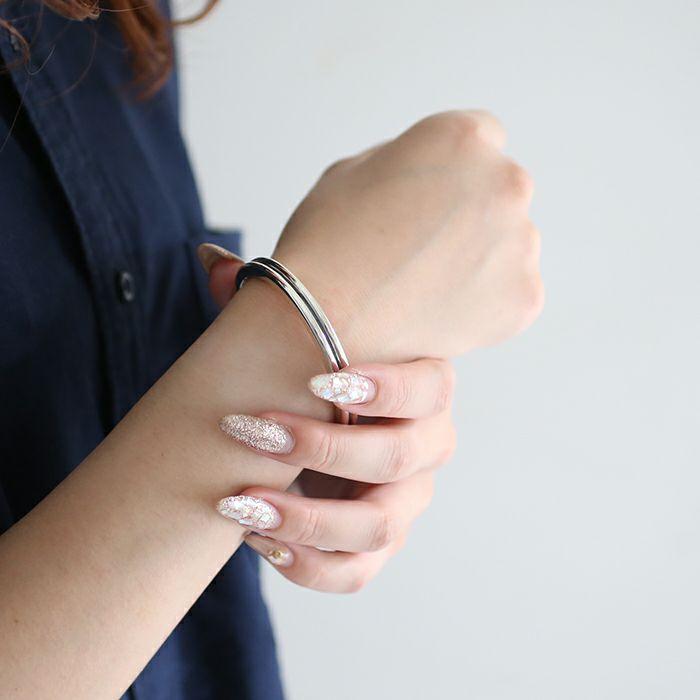 ブレスレット / B型 バングル M -NEW TYPE- メンズ レディース ペア シルバー 925 人気 おすすめ ブランド プレゼント ギフト シンプル ブレスレット ダイヤモンド ネイティブ 高級