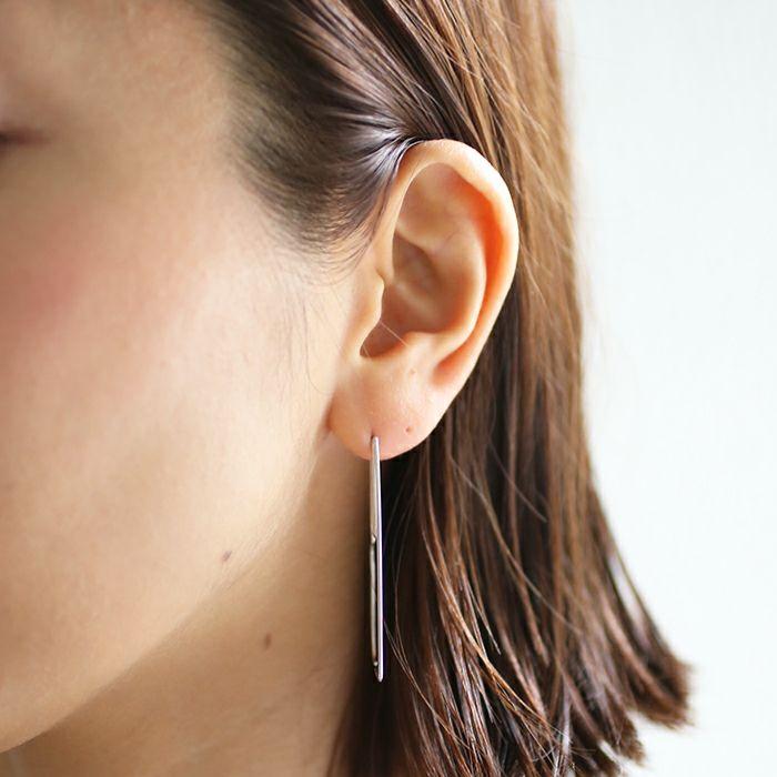 ピアス / AB型 アメリカンフープピアス -NEW TYPE- / 両耳 レディース プラチナ 血液型 アクセサリー 人気 ブランド おすすめ 誕生日 ギフト プレゼント 大ぶり