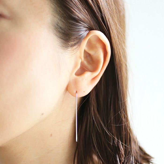 【ジャムホームメイド(JAMHOMEMADE)】O型 アメリカン フック ピアス NEW TYPE (血液型) - プラチナ950 / 両耳