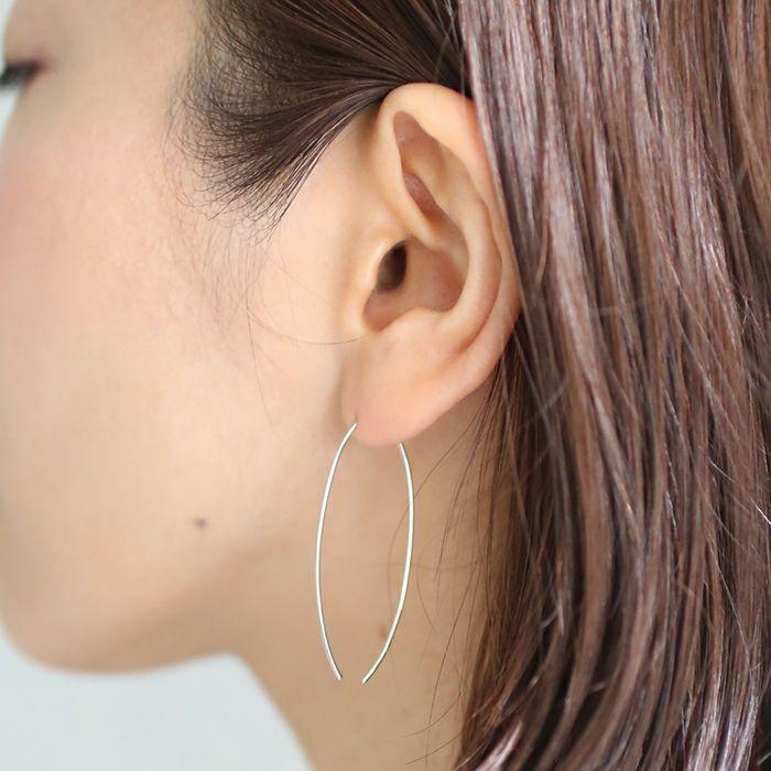 ピアス / O型 アメリカンフープピアス -NEW TYPE- / 両耳 レディース プラチナ 血液型 アクセサリー 人気 ブランド おすすめ 誕生日 ギフト プレゼント 大ぶり