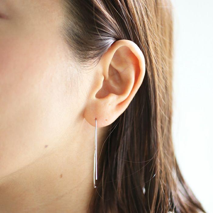 【ジャムホームメイド(JAMHOMEMADE)】B型 アメリカン フック ピアス NEW TYPE (血液型) - プラチナ950 / 両耳
