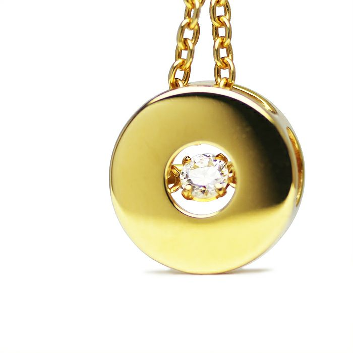 ネックレス / O型 ダンシングストーンネックレス GOLD -NEW TYPE- レディース 血液型 アクセサリー 人気 ブランド おすすめ 誕生日 ギフト プレゼント 大ぶり ダイヤモンド センターストーン 振動 鼓動 輝き ゴールド