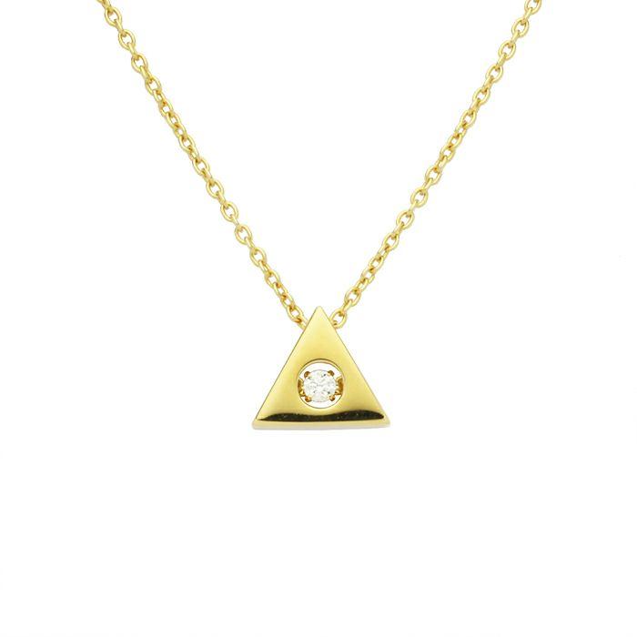 ネックレス / A型 ダンシングストーンネックレス GOLD -NEW TYPE- レディース 血液型 アクセサリー 人気 ブランド おすすめ 誕生日 ギフト プレゼント 大ぶり ダイヤモンド センターストーン 振動 鼓動 輝き ゴールド