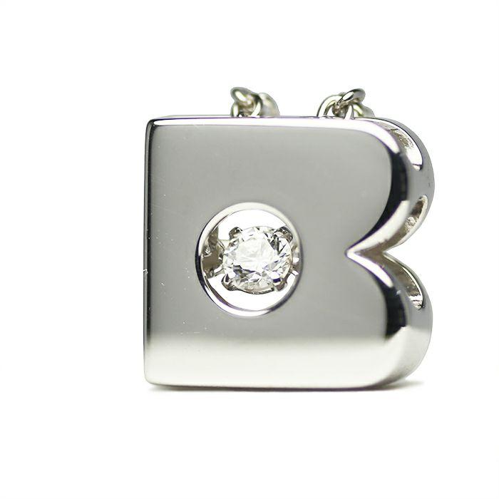【JAM HOME MADE(ジャムホームメイド)】B型 ダンシングストーンネックレス SILVER -NEW TYPE- レディース 血液型 アクセサリー 人気 ブランド おすすめ 誕生日 ギフト プレゼント 大ぶり ダイヤモンド センターストーン 振動 鼓動 輝き