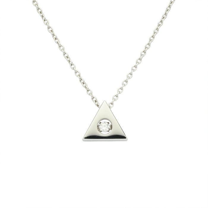 ネックレス / A型 ダンシングストーンネックレス SILVER -NEW TYPE- レディース 血液型 アクセサリー 人気 ブランド おすすめ 誕生日 ギフト プレゼント 大ぶり ダイヤモンド センターストーン 振動 鼓動 輝き