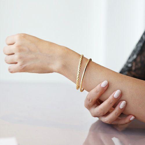 ブレスレット / リアルダイヤモンド ペア バングル S -GOLD- レディース アクセサリー ダイヤモンド 人気 ブランド おすすめ 誕生日 記念日 プレゼント シンプル 重ね付け プチプラ ゴールド
