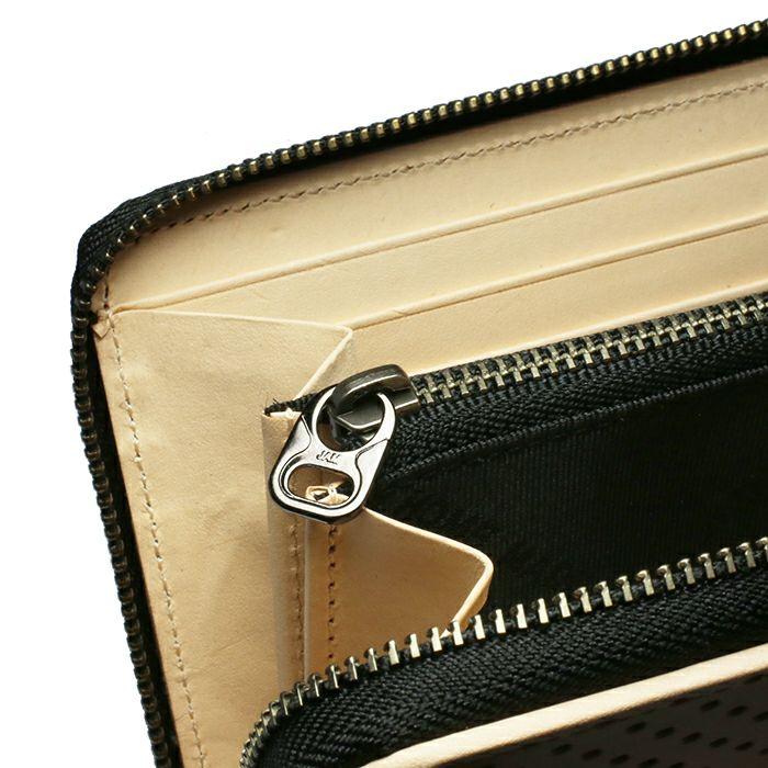 1月 誕生石パンチングファスナーロングウォレット -NUME- / 長財布