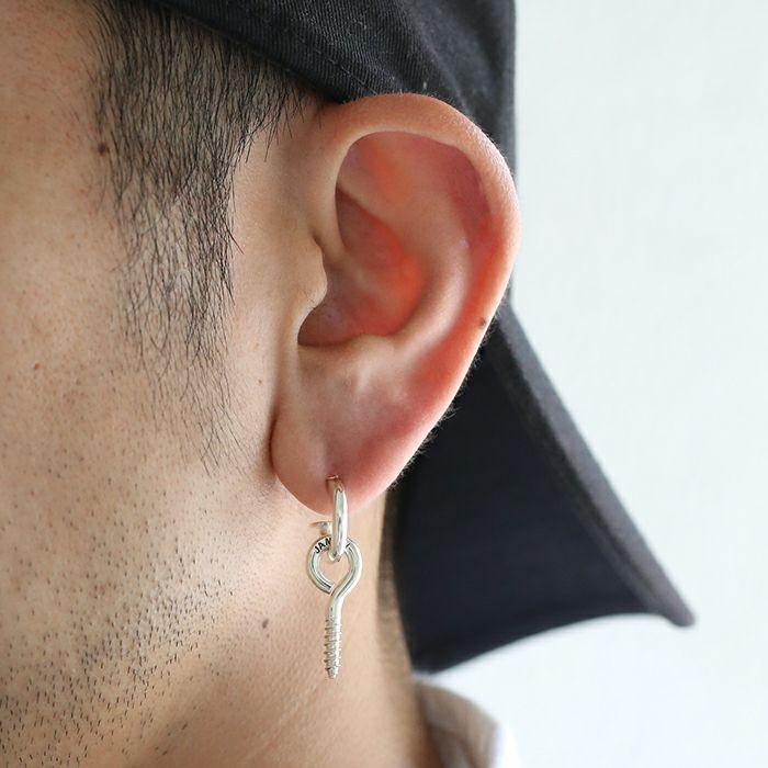 【ジャムホームメイド(JAMHOMEMADE)】スクリューアイ ピアス - シルバー / 片耳