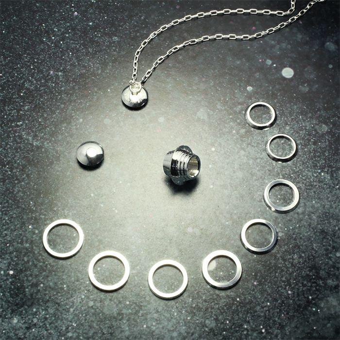 ネックレス / ダイヤモンドプラネットリング ネックレス メンズ レディース ブランド おすすめ 人気 誕生日 プレゼント ギフト シルバー ユニーク 地球 丸い