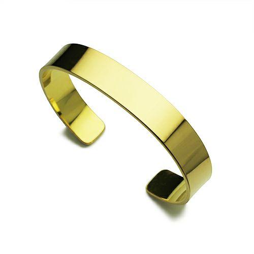 フォージングフラットバングル L -K18YELLOW GOLD-