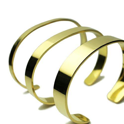 ブレスレット / フォージングフラットバングル L -K18YELLOW GOLD- メンズ レディース ペア 18金 イエローゴールド ブランド 人気 おすすめ シンプル ボリューム 平打ち 太め