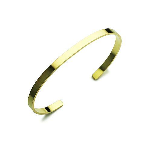ブレスレット / フォージングフラットバングル S -K18YELLOW GOLD- メンズ レディース ペア 18金 イエローゴールド ブランド 人気 おすすめ シンプル ボリューム 平打ち 細め