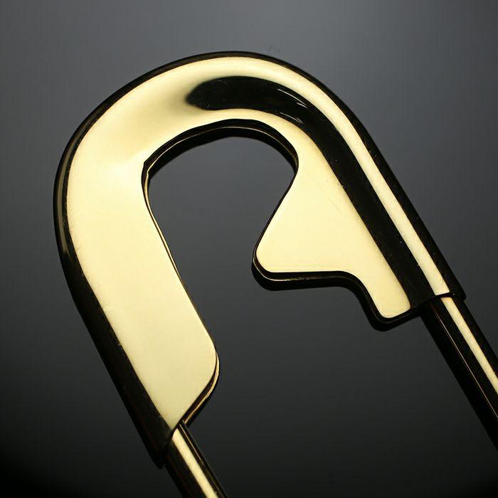 【JAM HOME MADE(ジャムホームメイド)】カスタマイズセーフティピン L -K18YELLOW GOLD- メンズ 18金 イエローゴールド アクセサリー 安全ピン ピアス ストールストッパー キーホルダー パンク