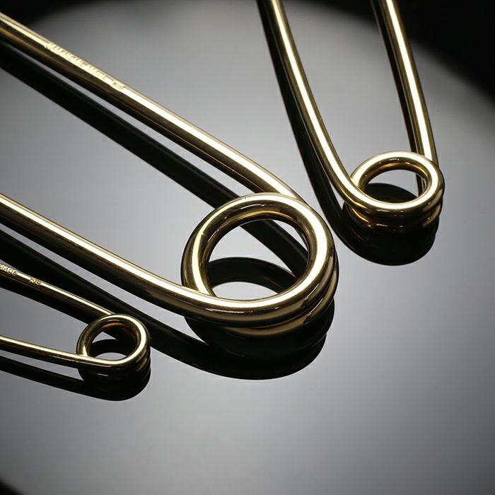 小物キーチェーン / カスタマイズセーフティピン L -K18YELLOW GOLD- メンズ 18金 イエローゴールド アクセサリー 安全ピン ピアス ストールストッパー キーホルダー パンク