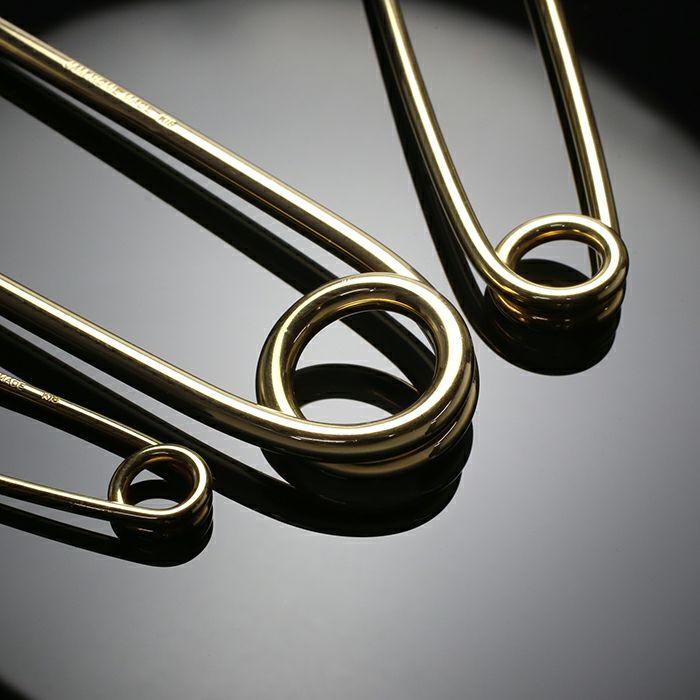 小物キーチェーン / カスタマイズセーフティピン M -K18YELLOW GOLD- メンズ 18金 イエローゴールド アクセサリー 安全ピン ピアス ストールストッパー キーホルダー パンク