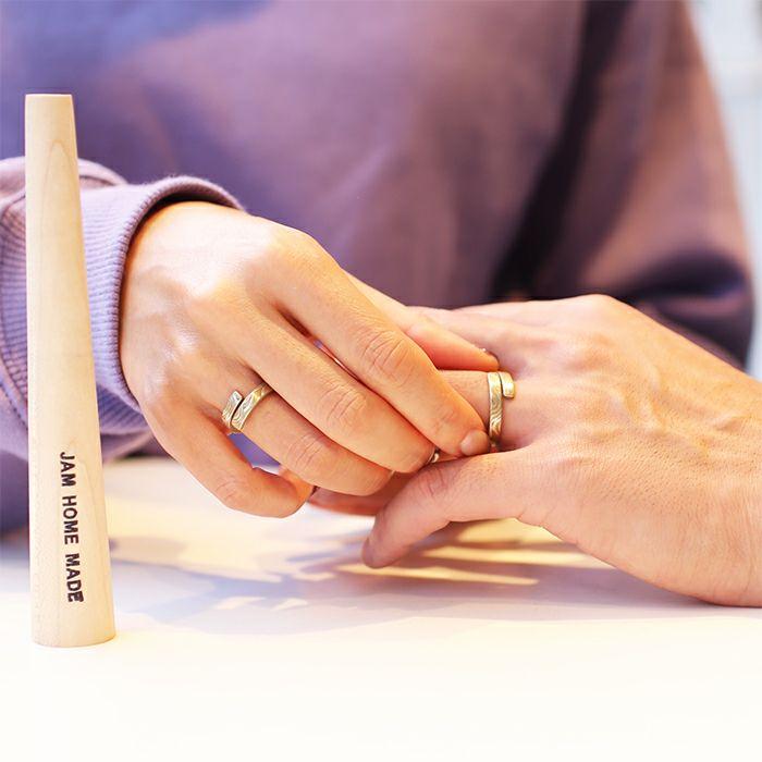 【JAM HOME MADE(ジャムホームメイド)】『指輪のうた』<ピノキオ> -PAIR- /ペアリング メンズ レディース ユニセックス ペアリング 指輪 手作り指輪 オリジナル ギフト プレゼント  シルバー 925 シンプル 木目金 人気 ブランド おすすめ