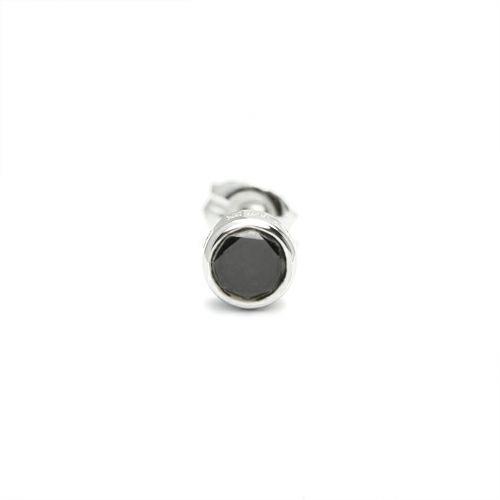 ピアス / ダイヤモンドモダンピアス 4mm -BLACK DIAMOND- / 片耳 メンズ シルバー ブランド おすすめ 人気 誕生日 プレゼント ギフト 片耳 シンプル