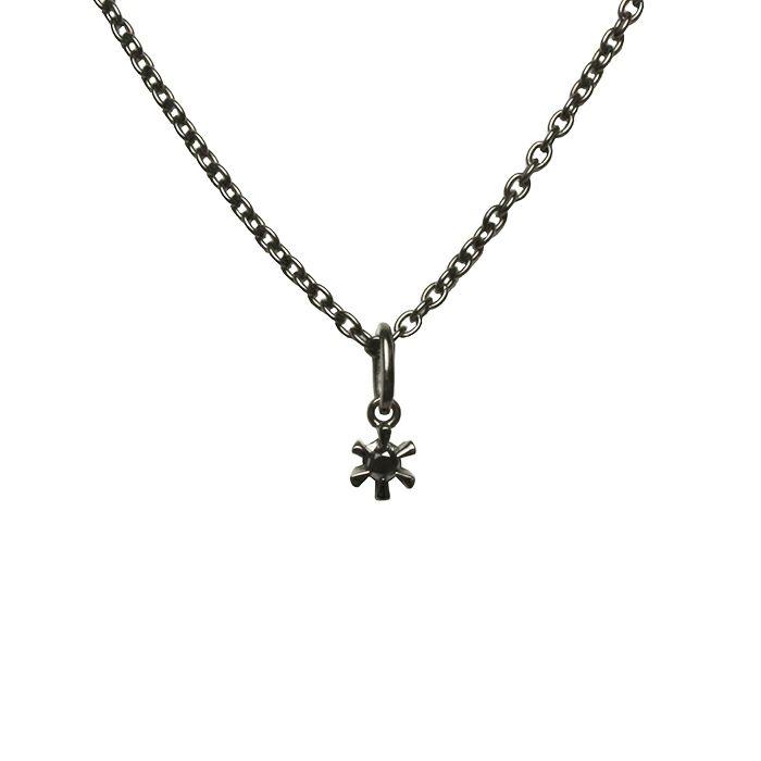 ネックレス / 3ピースラブネックレス M -BLACK- メンズ ペアネックレス ブラック シルバー925 人気 おすすめ ブランド プレゼント シンプル ハート クロス ダイヤモンド カスタマイズ
