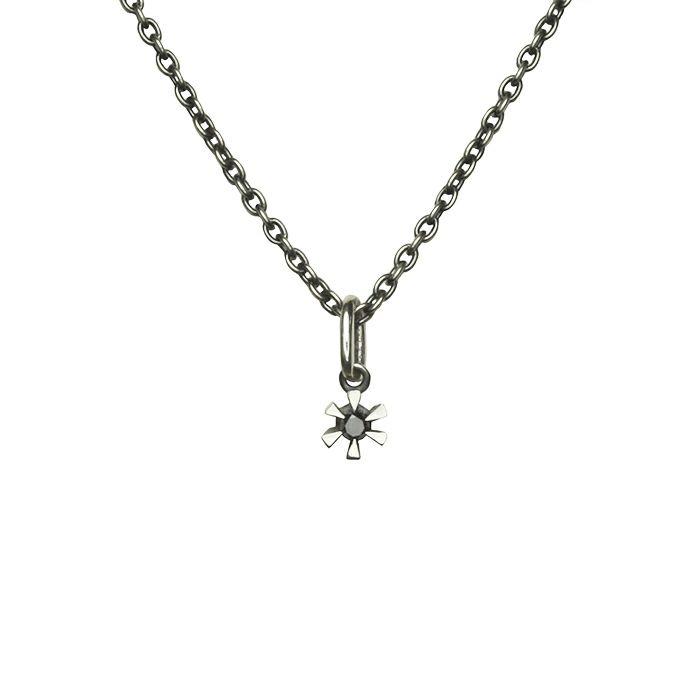 ネックレス / 3ピースラブネックレス M -SILVER- メンズ ペアネックレス シルバー925 人気 おすすめ ブランド プレゼント シンプル ハート クロス ダイヤモンド カスタマイズ