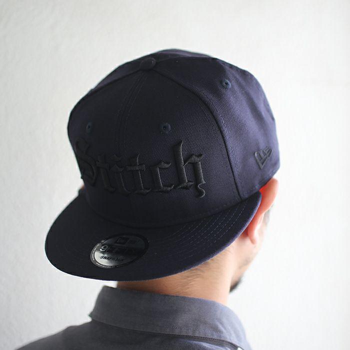 帽子 / NEW ERA/ニューエラ DESIGNLESS STITCHis STITCH CAP -NV×BK- ブラック コラボ キャップ ブランド おすすめ プレゼント メンズ