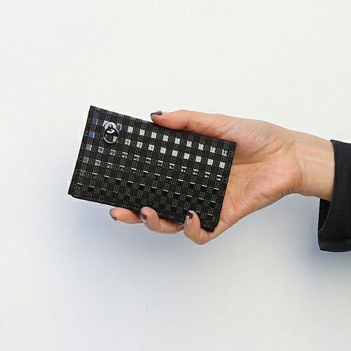 """印傳屋(印伝屋) カードケース -GIN""""JAM"""" CHECK- / 名刺入れ / 財布・革財布"""