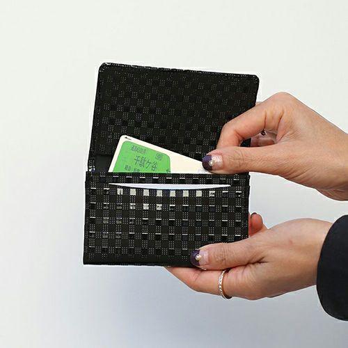 【ジャムホームメイド(JAMHOMEMADE)】印傳 - 印伝屋 名刺入れ カードケース チェック柄