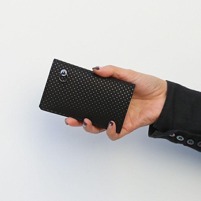 印傳屋(印伝屋) カードケース -PUNCHING- / 名刺入れ