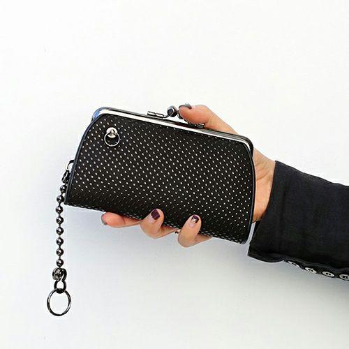9月 誕生石 印傳屋(印伝屋) 親子がま口財布 -PUNCHING- / 財布・革財布