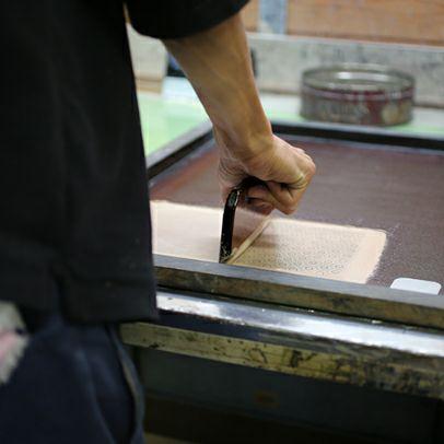 【ジャムホームメイド(JAMHOMEMADE)】印傳 - 印伝屋 4月 誕生石  二つ折り財布 チェック柄 / ミディアムウォレット