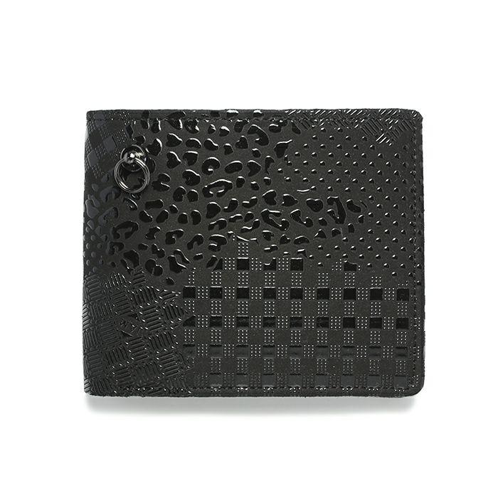 4月 誕生石 印傳屋(印伝屋) ミディアムウォレット -山梨カモフラージュ- / 二つ折り財布 / 財布・革財布