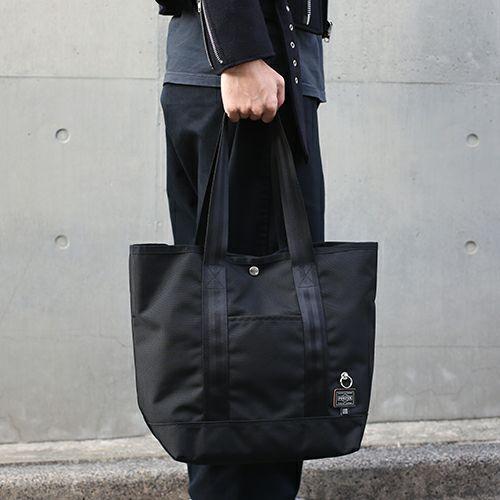 旅行用カバン / ポーター/PORTER トートバッグ バリスティック ナイロン メンズ レディース ユニセックス 人気 おすすめ ブランド コラボ ショルダー 肩掛け ブラック コーデュラ PVC A4 PCケース 通学