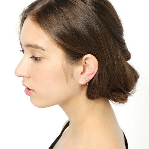 ピアス / 3月 誕生石セーフティピンピアス XS -SILVER- / 片耳 メンズ レディース 安全ピン シンプル 人気 おすすめ ブランド プレゼント 誕生日 ギフト  アクアマリン