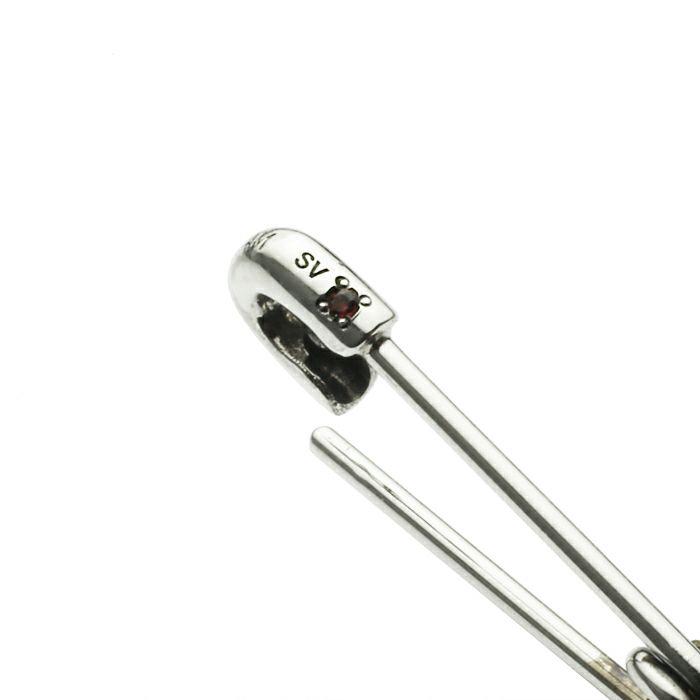 ピアス / 1月 誕生石セーフティピンピアス XS -SILVER- / 片耳 メンズ レディース 安全ピン シンプル 人気 おすすめ ブランド プレゼント 誕生日 ギフト  ガーネット
