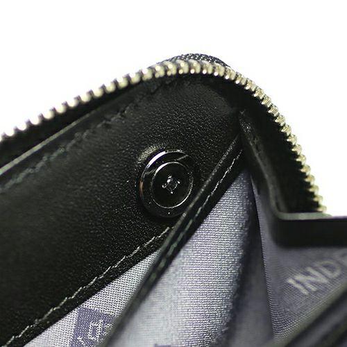 【ジャムホームメイド(JAMHOMEMADE)】印傳 - 印伝屋 4月 誕生石  ラウンドファスナー 三つ折り財布 レオパード柄 / 小銭入れ・ミニ財布