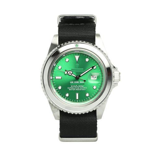 エメラルドジャムウォッチ NATO -SILVER- / 腕時計