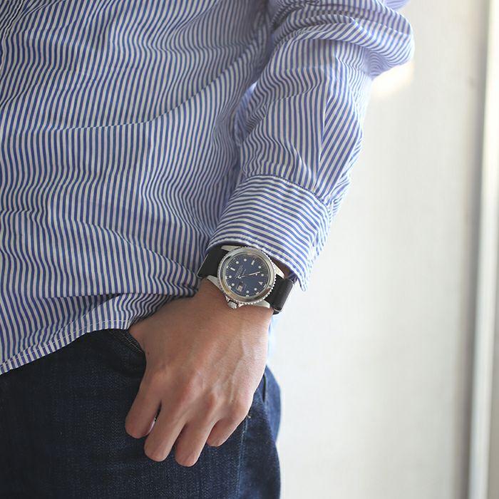 【JAM HOME MADE(ジャムホームメイド)】サファイアジャムウォッチ NATO -SILVER- / 腕時計メンズ ロレックス  ブルー サブマリーナ プレゼント シルバー  誕生石 5月 クォーツ 10気圧 アナログ 日付表示 生活防水 20mm