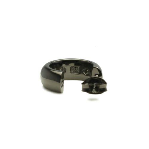 ピアス / ラウンドダイヤモンドピアス -BLACK- / 片耳 メンズ レディース シンプル 人気 おすすめ ブランド プレゼント 誕生日 ギフト