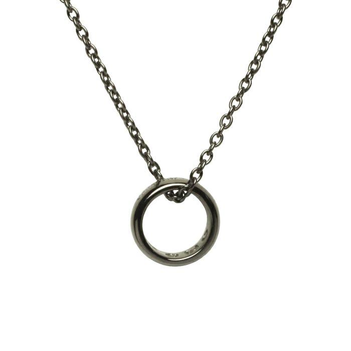ネックレス / ラウンドダイヤモンドネックレス TYPE2 -BLACK- メンズ レディース ペア シルバー 人気 ブランド おすすめ ギフト プレゼント 誕生日 シンプル