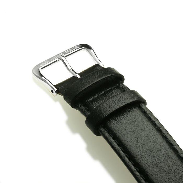 腕時計 / ジャムウォッチ TYPE-3 シルバー/ホワイト -レザーベルト(ブラック)-・ペアウォッチ メンズ レディース ユニセックス 生活防水 シンプル ミニマム DW ダニエルウェリントン プレゼント ブランド シェフィールド ヨーク ぺティート ダラム お揃い