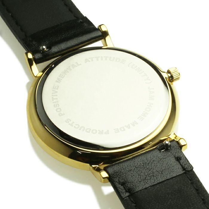 腕時計 / ジャムウォッチ TYPE-3 PAIR ゴールド/ブラック -レザーベルト(ブラック)-・ペアウォッチ メンズ レディース ユニセックス 生活防水 シンプル ミニマム DW ダニエルウェリントン プレゼント ブランド シェフィールド ヨーク ぺティート ダラム お揃い