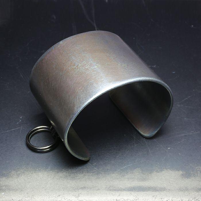 ブレスレット / EXIT メタルバングル XL(55mm) - ダークアンバー - メンズ レディース ユニセックス 人気 ブランド おすすめ ペア プレゼント ごつめ シルバー ゴールド ブラック
